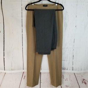 Talbots Dress Pants Sz 8 Gray Tan Lot of 2